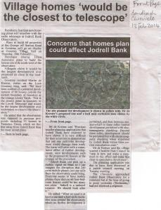 Homes could affect Jodrell Bank