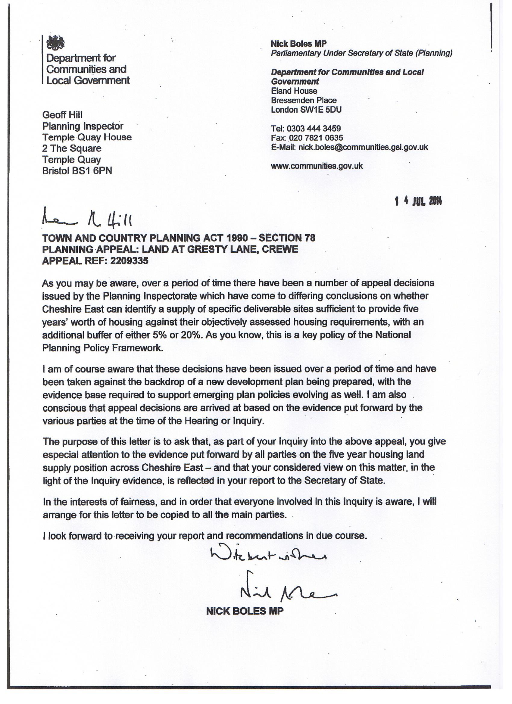 Boles letter re Shavington appeal – LoveGoostrey