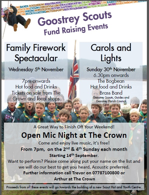 Autumn Fundraising events