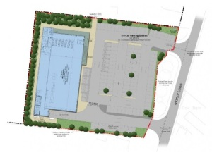 Proposed Aldi site on Manor Lane