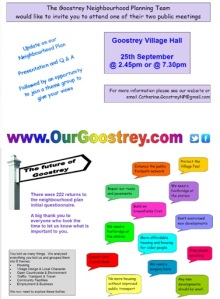 Friday 25th Sept N'hood Plan public meeting