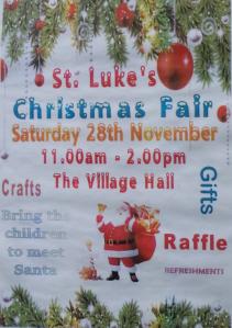 Christmas Fair 28th Nov. Village Hall