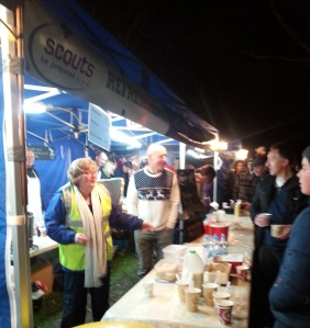 The BBQ and Mulled wine stall proved very popular !