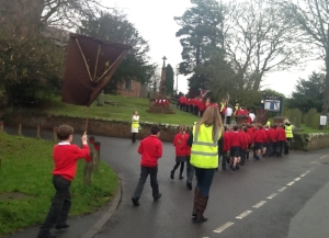 Goostrey Primary School pupils head to perform the plan