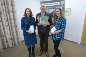 Sarah and Ellen receive their prizes from GPC Chairman Peter Godfrey