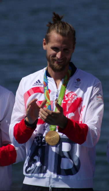 'Goostrey's' Paul Bennett receiving his Gold medal in Rio 2016.