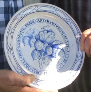 Frank Carter Memorial Plate 2016