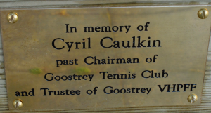 In memory of Cyril Caulkin