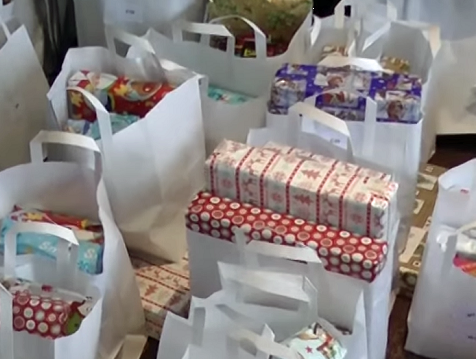 Donations and gifts for those in need at christmas