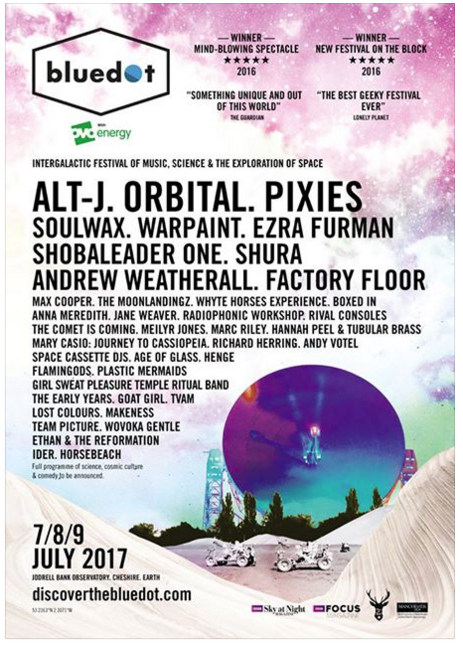 Bluedot festival's line-up