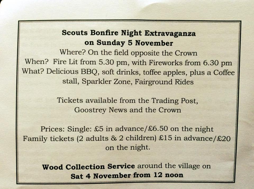 Scouts' bonfire 2017