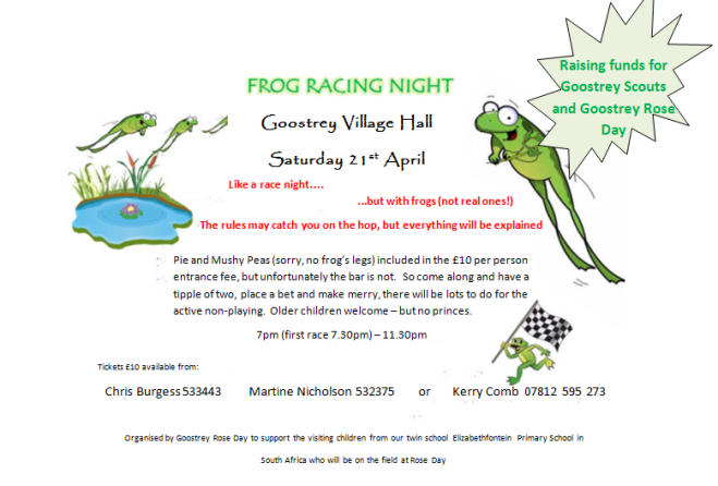 Frog Race Night 2018