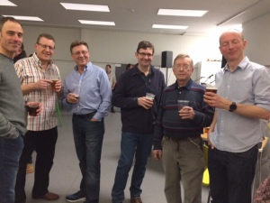 Some of the Scout Leaders enjoying a well deserved pint