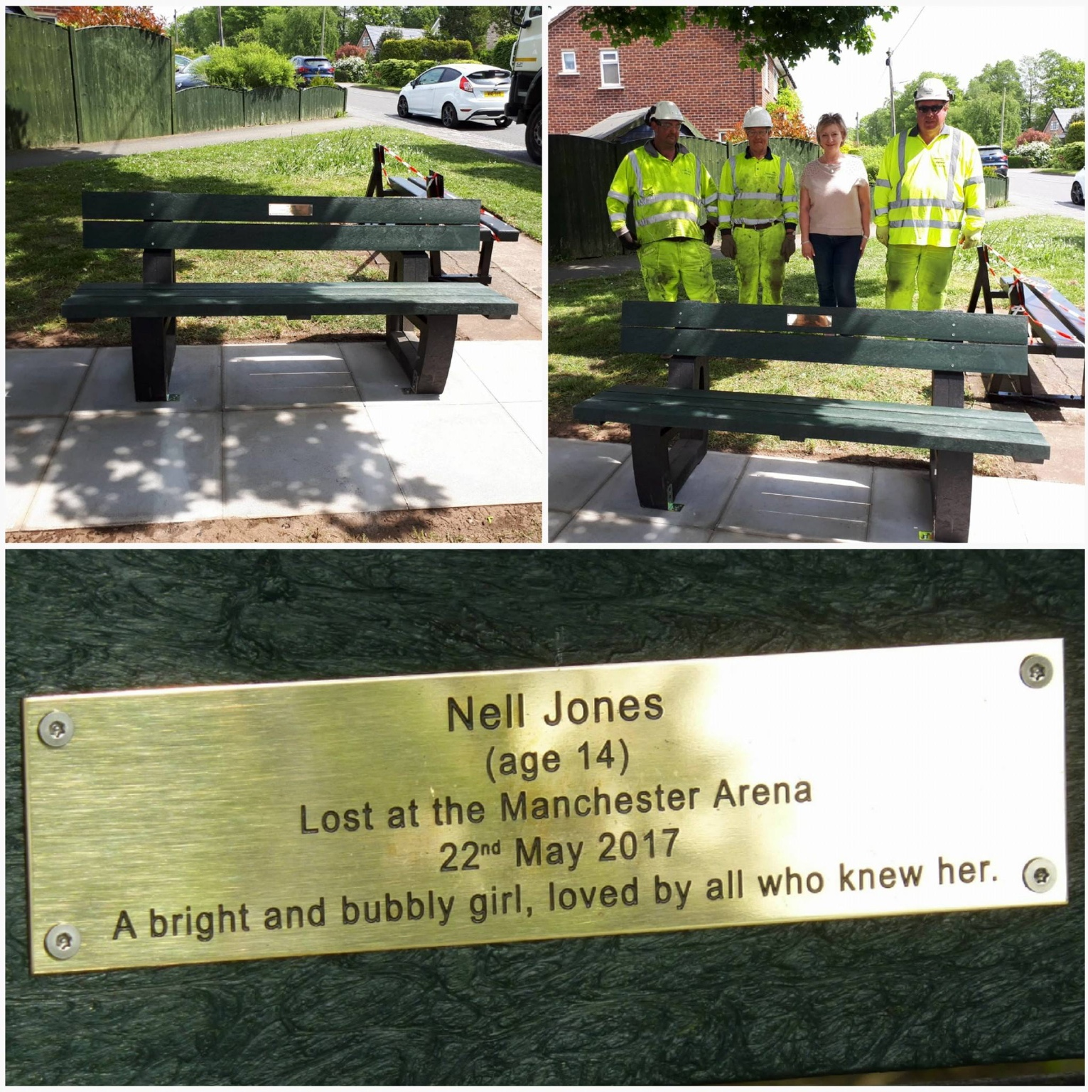 Nell's bench installed