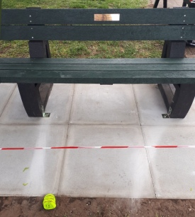 Nell's memorial bench installed