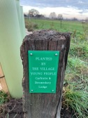 New hedge plaque