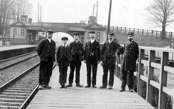 Goostrey Rail Station Staff 1891